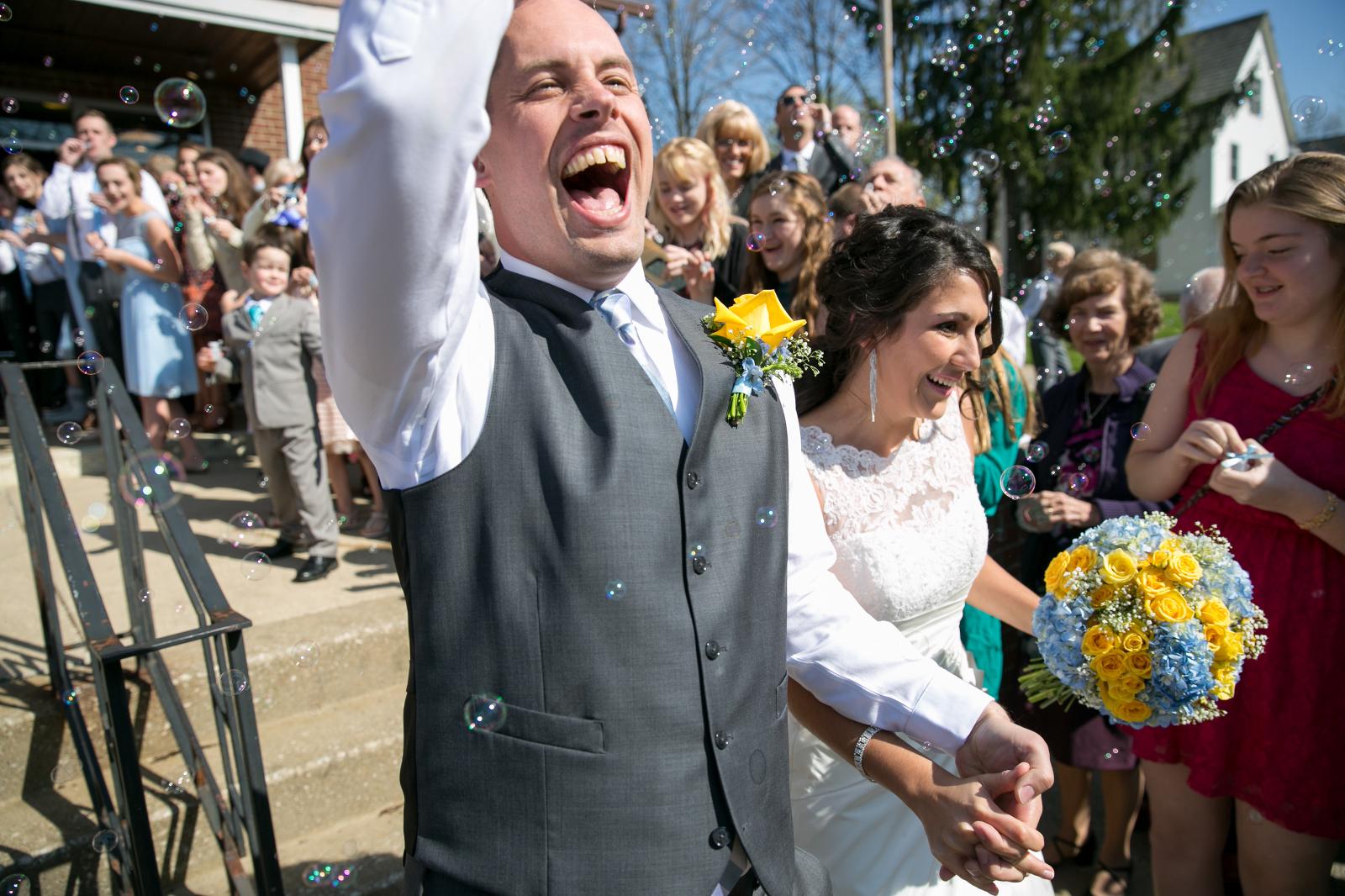 Ohio Wedding - Bubbles - Toledo Wedding - Just Married